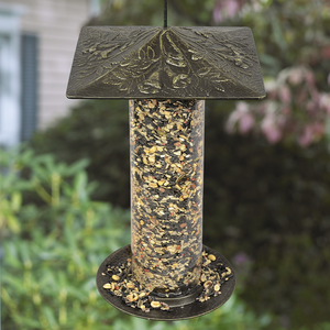 "Whitehall Products - 12"" Trumpet Vine Tube Feeder - French Bronze"