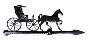 "Whitehall Products - 24"" Country Doctor Accent Weathervane - Black Aluminum - 00069"