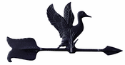 "Whitehall Products - 24"" Duck Accent Weathervane - Black Aluminum - 00077"