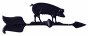 "Whitehall Products - 24"" Hog Accent Weathervane - Black Aluminum - 00081"