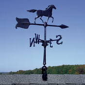 "Whitehall Products - 24"" Horse Accent Weathervane - Black Aluminum - 00070"