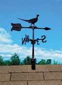 "Whitehall Products - 24"" Pheasant Accent Weathervane - Black Aluminum - 00078"