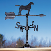 "Whitehall Products - 24"" Retriever Accent Weathervane - Black Aluminum - 00079"