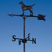 "Whitehall Products - 30"" Black Lab Weathervane - Garden Black Aluminum - 65328"