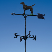 "Whitehall Products - 30"" Black Lab Weathervane - Garden Color Aluminum - 65403"