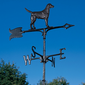 "Whitehall Products - 30"" Black Lab Weathervane - Rooftop Black Aluminum - 65502"
