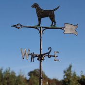 "Whitehall Products - 30"" Black Lab Weathervane - Rooftop Color Aluminum - 00087"