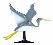 "Whitehall Products - 30"" Blue Heron Weathervane - Rooftop Color Aluminum - 65552"