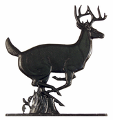 "Whitehall Products - 30"" Buck Weathervane - Rooftop Black Aluminum - 03009"
