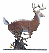 "Whitehall Products - 30"" Buck Weathervane - Rooftop Color Aluminum - 03011"