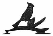 "Whitehall Products - 30"" Cardinal Weathervane - Rooftop Black Aluminum - 03089"
