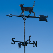 "Whitehall Products - 30"" Cat Standing Weathervane - Garden Black Aluminum - 65372"