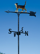 "Whitehall Products - 30"" Cat Standing Weathervane - Garden Color Aluminum - 65443"