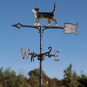 "Whitehall Products - 30"" Cat Standing Weathervane - Rooftop Color Aluminum - 65579"