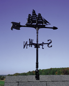 "Whitehall Products - 30"" Clipper Accent Weathervane - Black Aluminum - 00080"