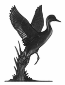 "Whitehall Products - 30"" Duck Weathervane - Garden Black Aluminum - 65340"