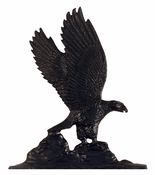 "Whitehall Products - 30"" Eagle Weathervane - Garden Black Aluminum - 65341"