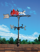 "Whitehall Products - 30"" Fire Wagon Weathervane - Rooftop Color Aluminum - 03060"