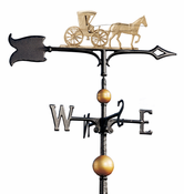 "Whitehall Products - 30"" Full-Bodied Country Doctor Weathervane - Gold-Bronze Aluminum - 00412"