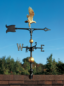 "Whitehall Products - 30"" Full-Bodied Eagle Weathervane - Gold-Bronze Aluminum - 03214"