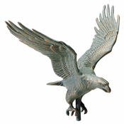 "Whitehall Products - 30"" Full-Bodied Eagle Weathervane - Verdigris Aluminum - 45144"