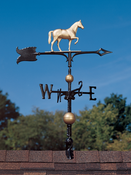 "Whitehall Products - 30"" Full-Bodied Horse Weathervane - Gold-Bronze Aluminum - 03227"