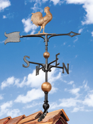 "Whitehall Products - 30"" Full-Bodied Rooster Weathervane - Copper Aluminum - 02028"