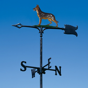 "Whitehall Products - 30"" German Shephard Weathervane - Garden Color Aluminum - 65419"