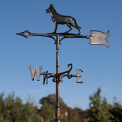 "Whitehall Products - 30"" German Shephard Weathervane - Rooftop Black Aluminum - 65512"