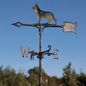 "Whitehall Products - 30"" German Shephard Weathervane - Rooftop Color Aluminum - 65561"