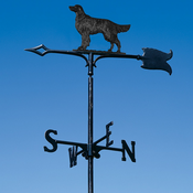 "Whitehall Products - 30"" Golden Retriever Weathervane - Garden Black Aluminum - 65347"