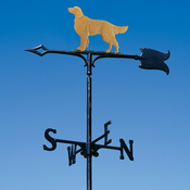 "Whitehall Products - 30"" Golden Retriever Weathervane - Garden Color Aluminum - 65420"