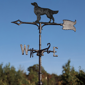 "Whitehall Products - 30"" Golden Retriever Weathervane - Rooftop Black Aluminum - 65513"