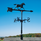 "Whitehall Products - 30"" Horse Accent Weathervane - Black Aluminum - 00074"