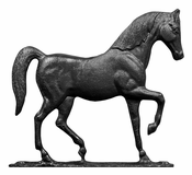 "Whitehall Products - 30"" Horse Weathervane - Rooftop Black Aluminum - 03077"
