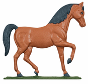 "Whitehall Products - 30"" Horse Weathervane - Rooftop Color Aluminum - 03079"