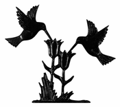 "Whitehall Products - 30"" Hummingbirds Weathervane - Garden Black Aluminum - 65338"