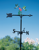 "Whitehall Products - 30"" Hummingbirds Weathervane - Garden Color Aluminum - 65413"