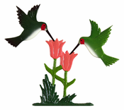 "Whitehall Products - 30"" Hummingbirds Weathervane - Rooftop Color Aluminum - 65557"