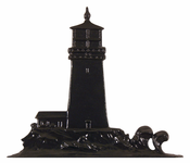 "Whitehall Products - 30"" Lighthouse Weathervane - Garden Black Aluminum - 65355"