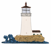 "Whitehall Products - 30"" Lighthouse Weathervane - Rooftop Color Aluminum - 03068"
