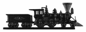 "Whitehall Products - 30"" Locomotive Weathervane - Rooftop Black Aluminum - 65519"