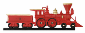 "Whitehall Products - 30"" Locomotive Weathervane - Rooftop Color Aluminum - 65568"