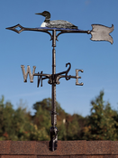 "Whitehall Products - 30"" Loon Weathervane - Rooftop Color Aluminum - 65569"