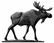 "Whitehall Products - 30"" Moose Weathervane - Rooftop Black Aluminum - 65523"