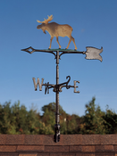 "Whitehall Products - 30"" Moose Weathervane - Rooftop Color Aluminum - 65572"