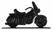 "Whitehall Products - 30"" Motorcycle Weathervane - Garden Black Aluminum - 65361"