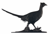 "Whitehall Products - 30"" Pheasant Weathervane - Rooftop Black Aluminum - 03014"