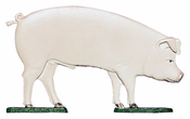 "Whitehall Products - 30"" Pig Weathervane - Rooftop Color Aluminum - 00328"