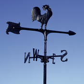 "Whitehall Products - 30"" Rooster Accent Weathervane - Black Aluminum - 00071"